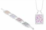 Souprava náramek a náhrdelník DNA čip