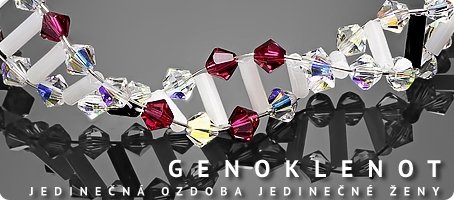 Genoklenot - šperk podle předlohy DNA