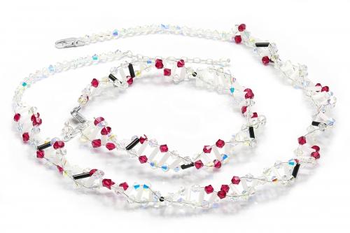 00748d7b43 Souprava DNA Helix - náhrdelník a náramek 1